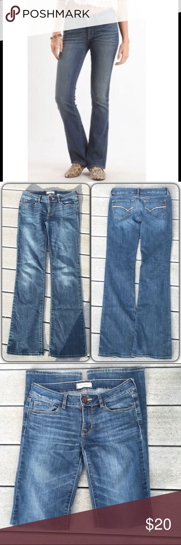 "🆕 Bullhead Black Bootcut Jeans Very good condition with lots of life left! Soft, worn in Bootcut jeans, size 3. Right bottom hem has very minimal signs of wear/distressed denim and a small linear dark mark (see pic 4), but barely noticeable. 78% cotton, 21% polyester, 1% spandex. Waist measures about 13.5"" across; front rise: 7.5""; inseam: 31"" Bullhead Jeans Boot Cut"