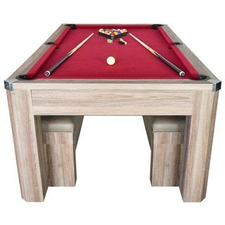 Newport 7-foot Pool Table Combo Set with Benches - Free Shipping Today - Overstock.com - 17582225 - Mobile