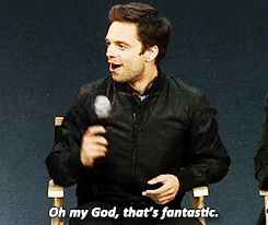 His reaction to the only teen age girl dressed up as the winter soldier  does anyone know if there is a video for this???