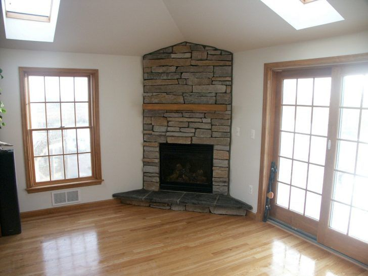 Great Corner Gas Fireplace Idea