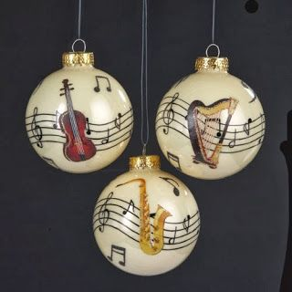74 best Musical Instrument Ornaments images on Pinterest | Musical ...