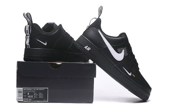 new arrival 056d6 d120a Nike Air Force 1 Low Utility Black White MensWomens Casual Shoes  AJ7747-001