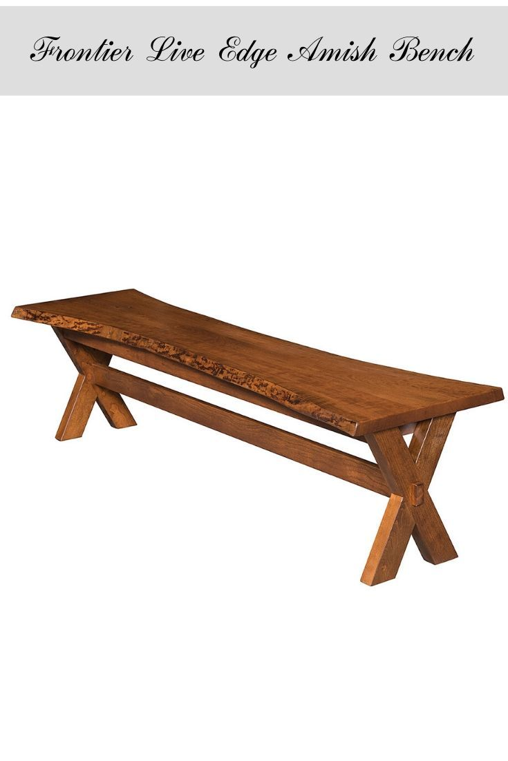Enhance Your Rustic Decor With An Amish Bench Featuring A Live