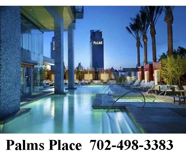 palms place las vegas condo hotel...strip view studios with balconies, one bdrm corner units and 2 bdrm penthouses for sale  702-498-3383   www.palmsplaceresales.com