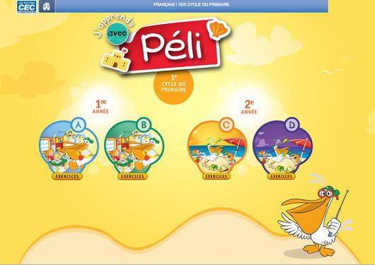 J'apprends avec Péli - exercises en ligne présco à 2e année
