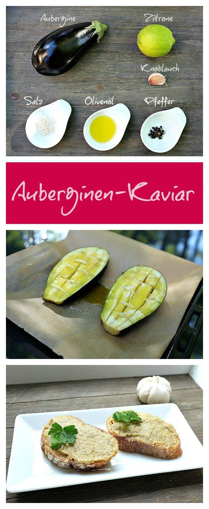 Auberginen-Kaviar schmeckt wunderbar nach gebackener Aubergine und geröstetem Knoblauch, mit einem Hauch von Zitrone. Ein Fest für die Sinne.