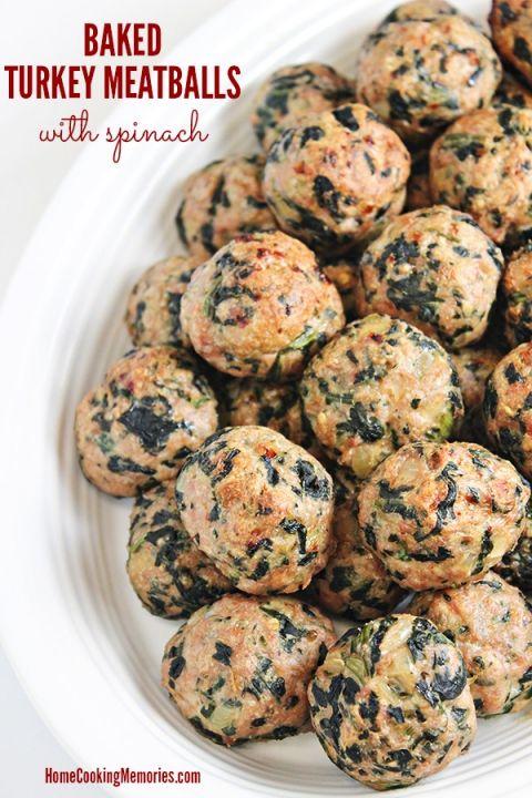 Healthy Turkey Meatballs on Pinterest | Turkey Meatballs, Meatball ...