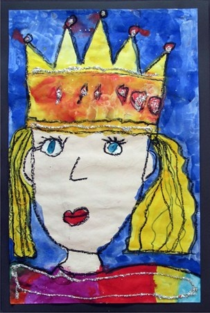 watercolor self-portrait princess