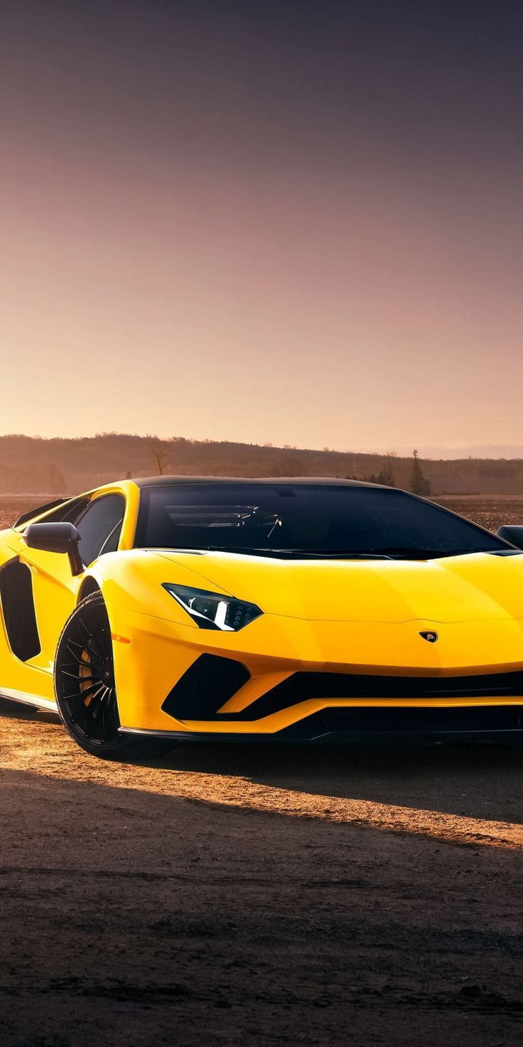 Lamborghini Aventador S Sports Car Yellow 1080 2160 Wallpaper