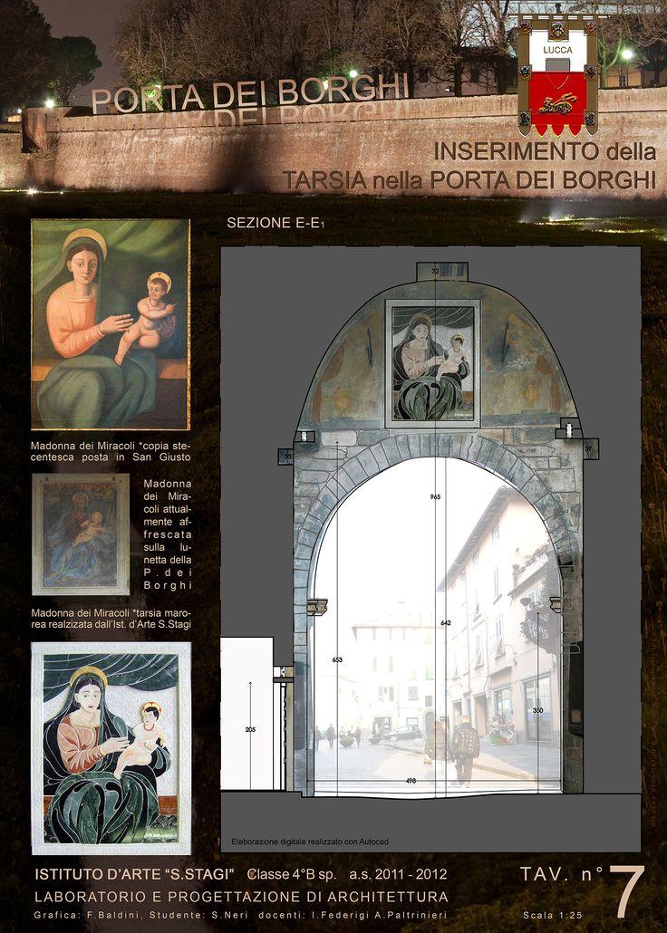 """""""Progetto Madonna dei Miracoli - Lucca 2012"""". Classe 4B sez. Architettura. ISA/Liceo artistico statale """"Stagio Stagi""""."""