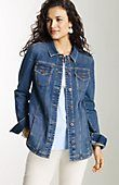 > shirttail denim jacket at J.Jill