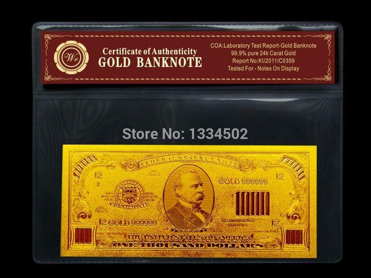 1000 долларов билл Американская Банкнота Золото Банкноты с COA Рамки Принимаем Смешанный оптовая