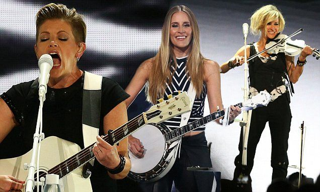 Emily Robison, Natalie Maines and Martie Maguire of the Dixie Chicks, took to the stage in Melbourne on Saturday.