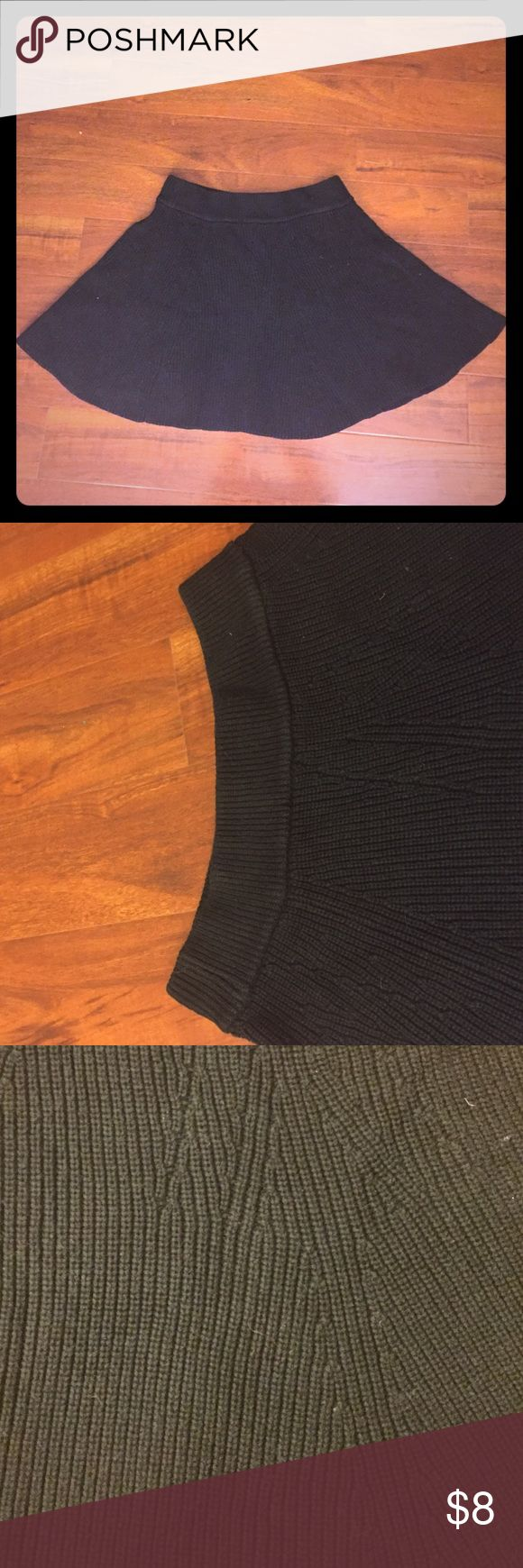Gap XL Knitted Black Skirt I'm selling a black knitted skirt from Gap. Skirt has been warn a few times and is in good condition. Size on tag says XL so it may be best for women sized 16-18. Skirt waist is stretch, no buttons or zippers. Contact me with any questions! GAP Skirts