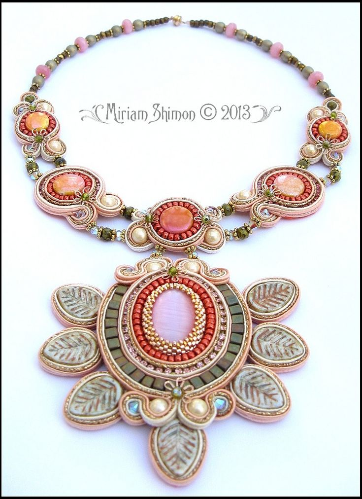 First whisper of Spring Soutache necklace | Explore Cielo De… | Flickr - Photo Sharing!