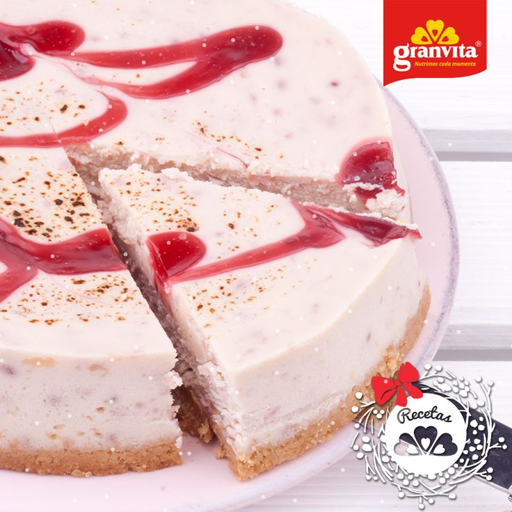 #Receta: Mousse de fresa con Granola Tipo Americano Granvita. 🍓 Ligero y suave para el postre navideño.
