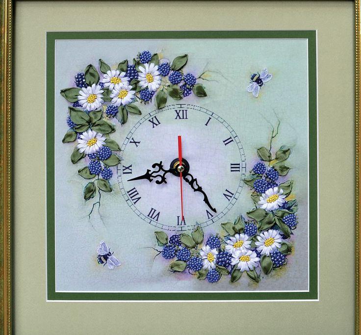 Вышивка часы циферблат