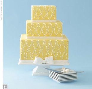 Yelow wedding cake
