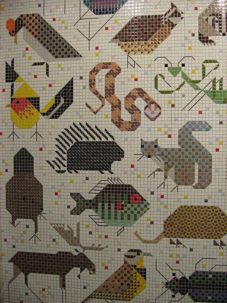 1384950227 mozaika mural in the john weld peck federal for Charley harper mural cincinnati