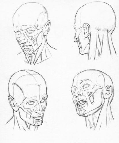 How to draw faces at 3/4 angles