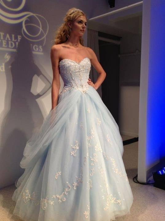 Blue cinderella wedding dress wedding dress ideas for Cinderella wedding dress up