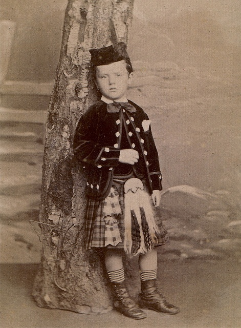 :::::::: Antique Photograph ::::::::: Traditional Scottish attire makes this little boy look so grown up. Circa 1865