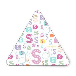 Monogram alphabet letter S Triangle Sticker