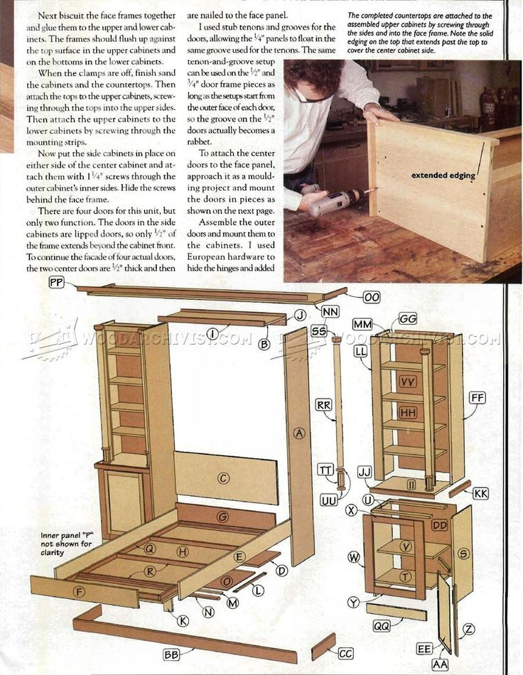 The 25 best murphy bed plans ideas on pinterest diy murphy bed murphy bed plans furniture plans solutioingenieria Choice Image