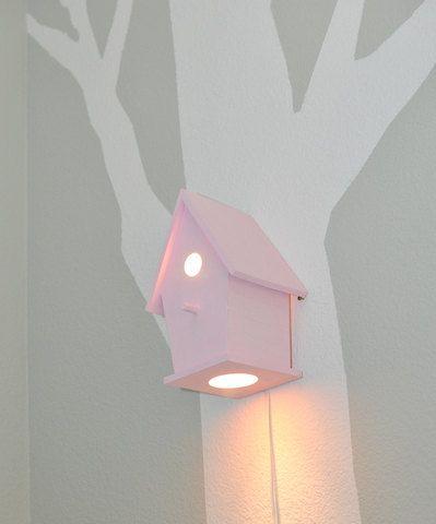 Sale Avery in xoxo Pink Modern Birdhouse Lamp for Baby Girl Nursery #modern #birds