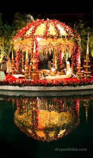 Here's the wedding mantap at a beautiful wedding we worked on at Golden Palms Resort in Bangalore.