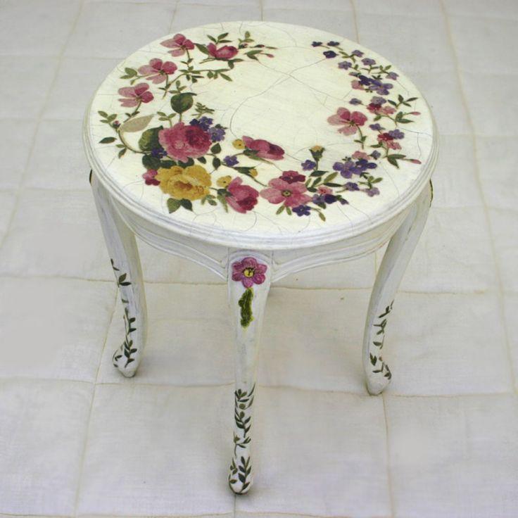 Louis XV Decoupage Side Table