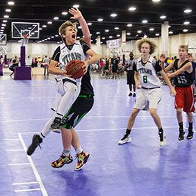 SnapSports Athletic Surfaces are the choice for all AAU basketball tournaments nationwide. #officialcourt #basketballcourt