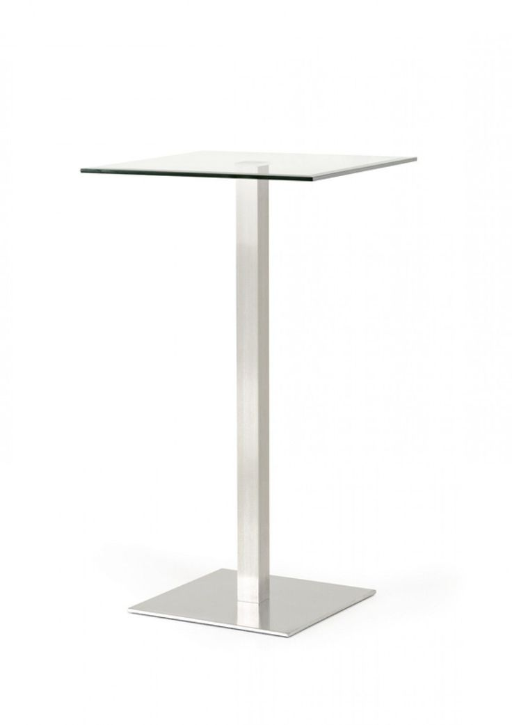 Lovely Modrest Gavin Modern Square Glass Bar Table VGBG6021 BT
