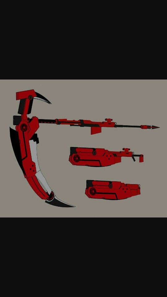 Cresent Rose from RWBY A scythe that can turn into a customizable high impact sniper-rifle!