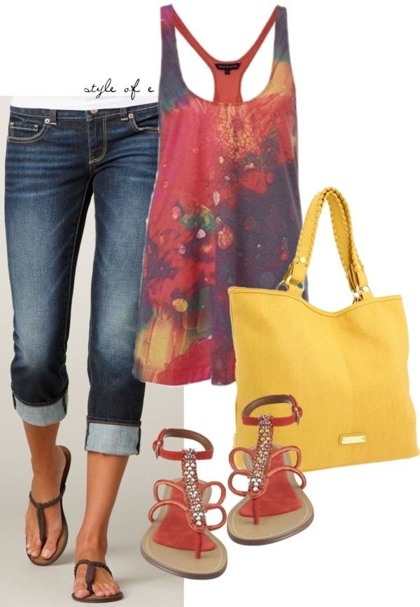 """Bright Colors"" by styleofe on Polyvore"