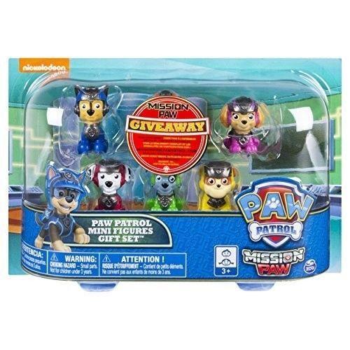 Paw Patrol Figure Set 6 Piece Mission Paw Mini Gift Exclusive Toys Kids Play New #PawPatrolFigureSet