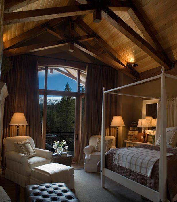 242 best ceiling trusses and arched beams images on pinterest future house cottage and Master bedroom ceiling beams