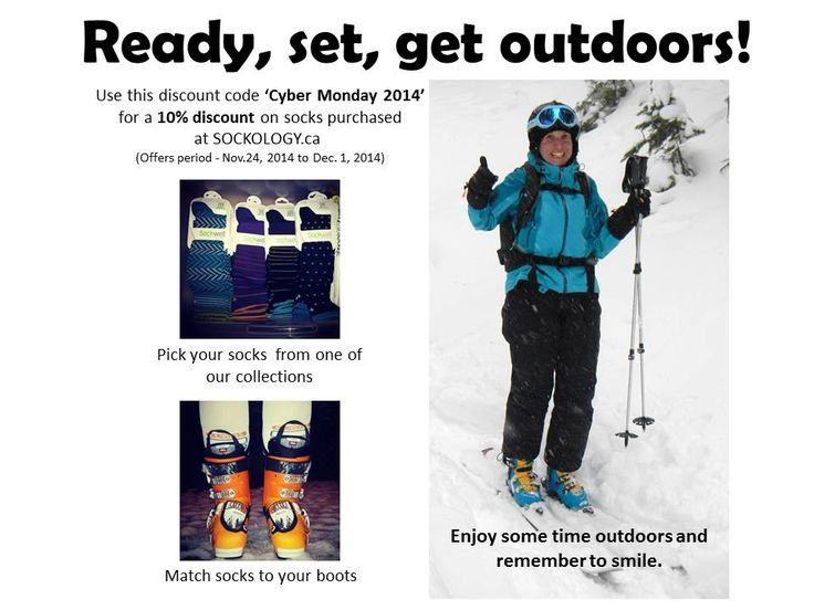 Ready, set, get outdoors. Cyber Monday deal on compression socks.