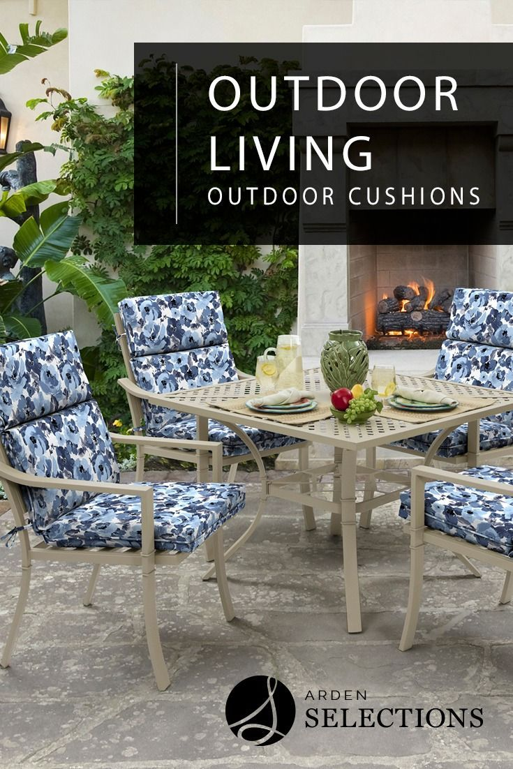 Beautiful Blue Floral Dining Cushions Patio Cushions Outdoor