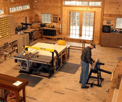 ultimate woodworkers workshop - Gotta have one of these. Lets not forget a metal shop. If I build it... I will be even happier.