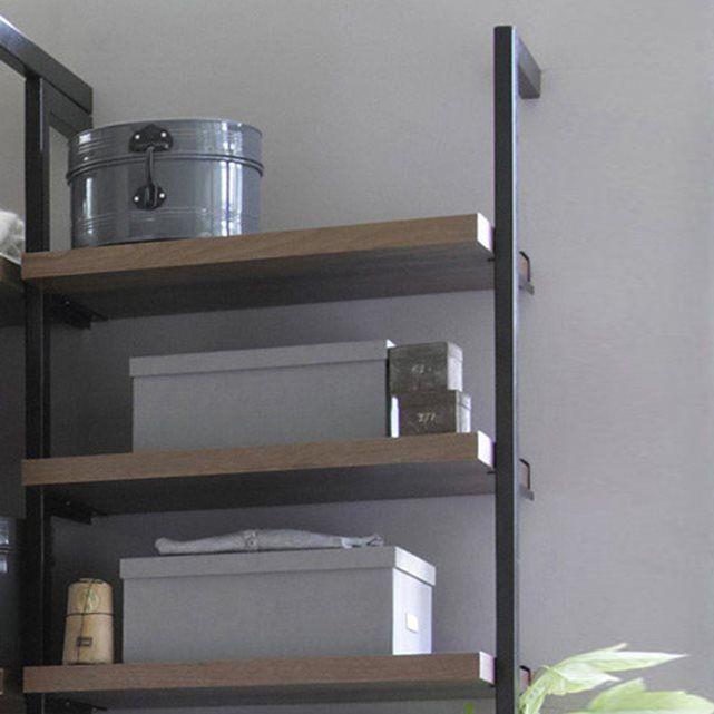 querre pour tag res kyriel lot de 2 equerre pour etagere querre et bois metal. Black Bedroom Furniture Sets. Home Design Ideas