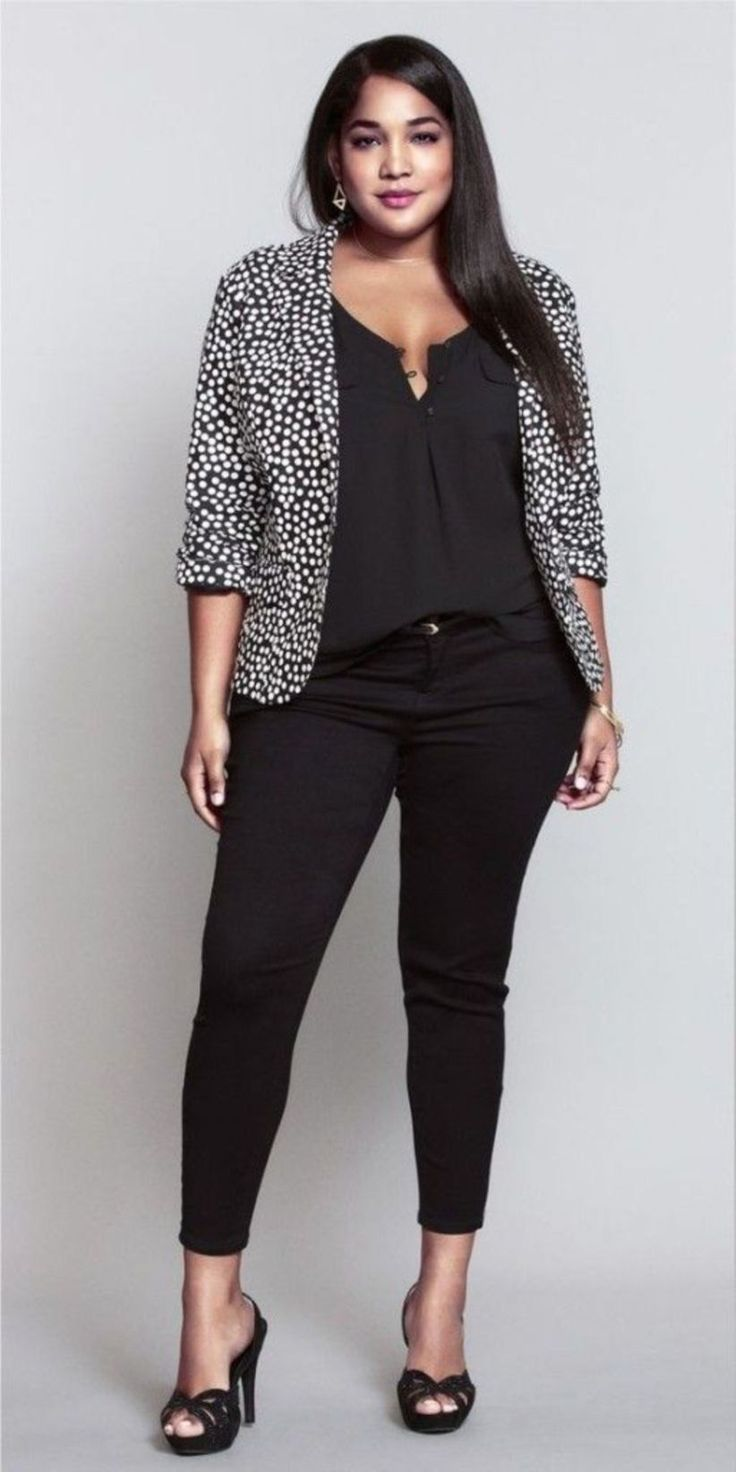 Casual Plus Size Work Outfits For Women Over 40 10 – 101outfit.com