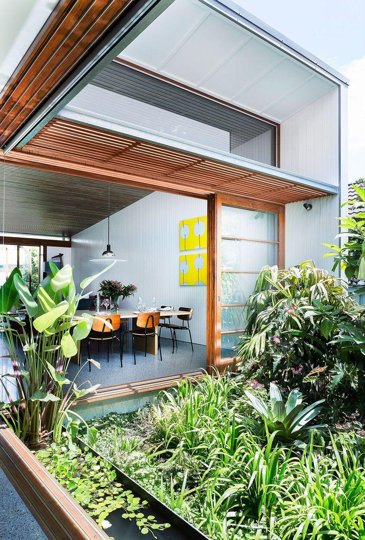 Leafy Internal Courtyard Polished Concrete Floor