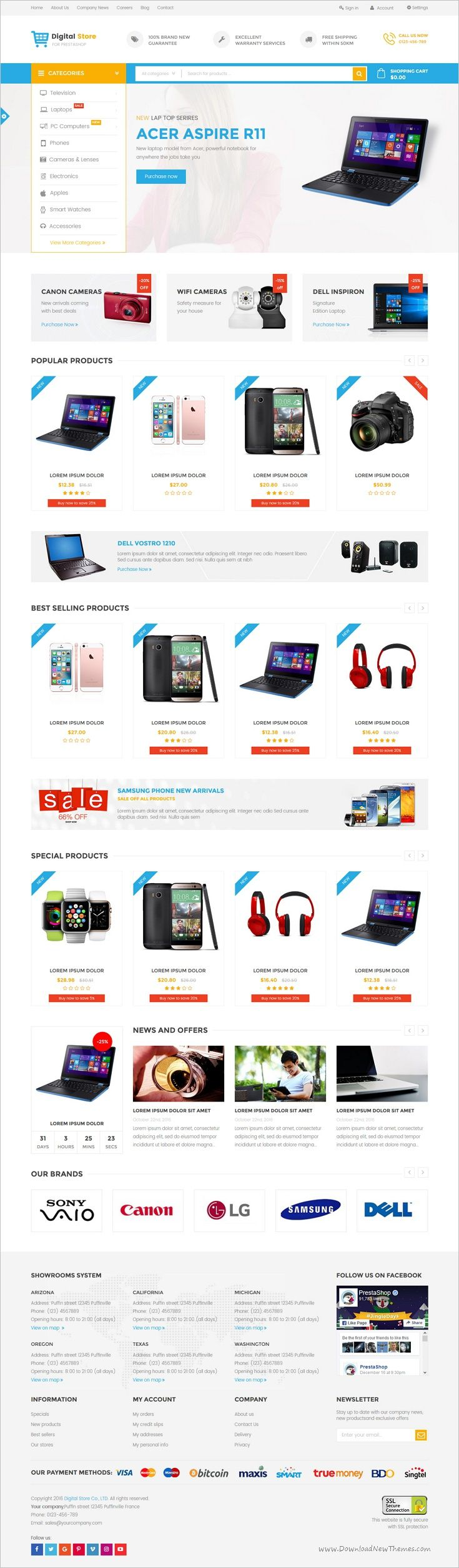 Digital store is a wonderful 6in1 #Prestashop theme for #electronics #shop stunning eCommerce website download now➩ https://themeforest.net/item/digital-store-specific-prestashop-theme-for-digital-electronics-phones-cameras-and-computers-st/18783537?ref=Datasata