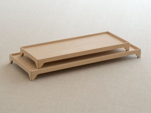 Footed food trays - beautiful.