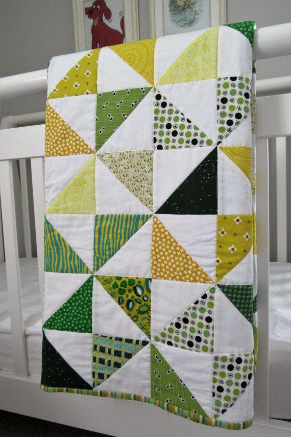 Modern Oregon or Baylor University Pinwheel Baby by LindyJQuilts