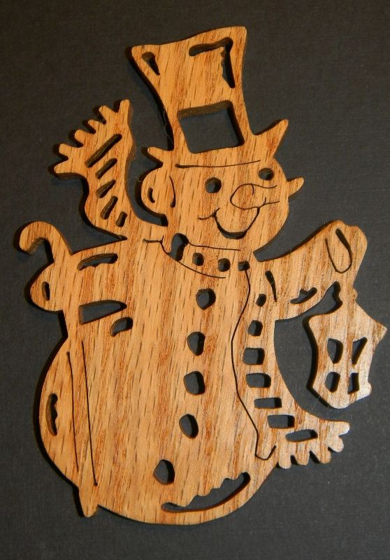 Just Me!: Let It Snow - Snowman Ornaments - Scroll Saw