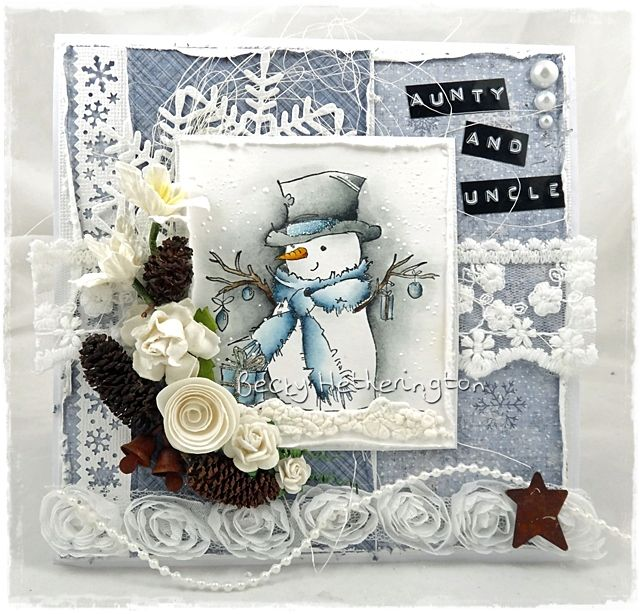 Live & Love Crafts' Inspiration and Challenge Blog: Mr. Snowman