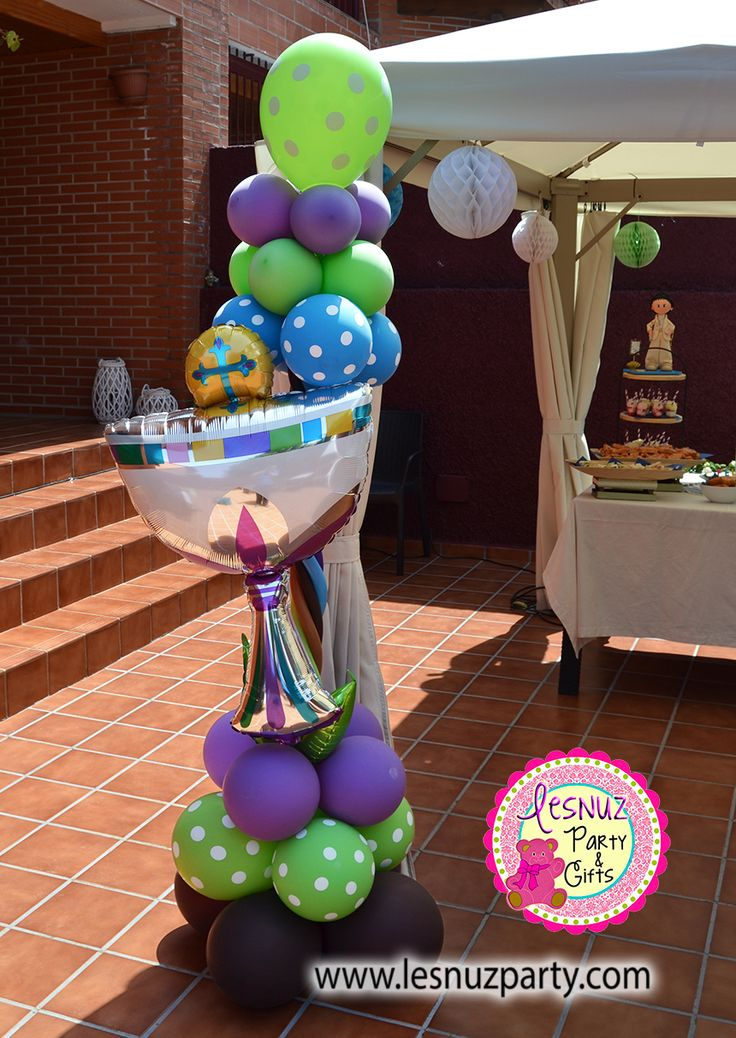 Torre globos caliz - Balloon column