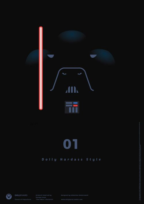"Darth Vader - Dolly Hardass Style. Artwork by Sebastian Komorowski. Inspired by George Lucas ""Star Wars"""